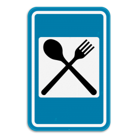 Verkeersbord SB250 F67 - Restaurant