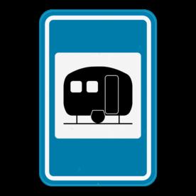 Verkeersbord SB250 F73 - Caravanterrein