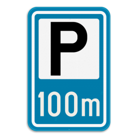 Verkeersbord SB250 F59a - Aankondiging van een parking