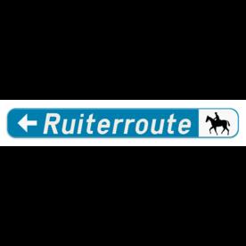 Verkeersbord SB250 F34b1 -Aanbevolen reisweg voor bepaalde weggebruikers - links + picto