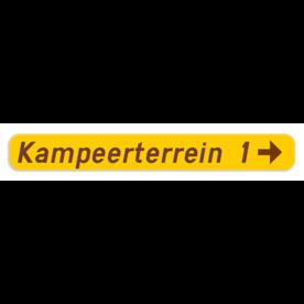 Verkeersbord SB250 F37 - Wegwijzer naar hotels, campings, restaurant - rechts