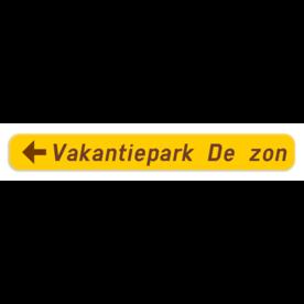 Verkeersbord SB250 F37 - Wegwijzer naar hotels, campings, restaurant - links