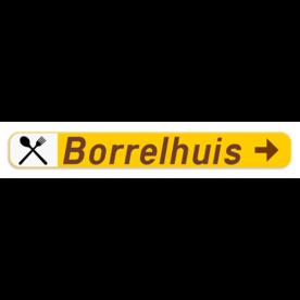 Verkeersbord SB250 F37 -Wegwijzer naar hotels, campings, restaurant - rechts + picto