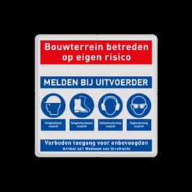 Veiligheidsbord | 4 symbolen + banners