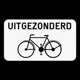 Verkeersbord SB250 M2 - Uitgezonderd fietsers