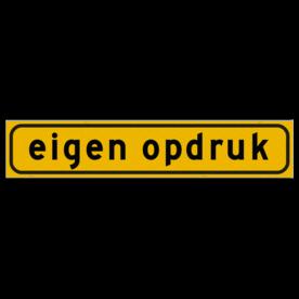 Autobord 500x100mm geel FLUOR met eigen tekst