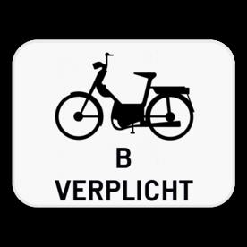 Verkeersbord SB250 M6 - Verplichting voor bromfietsen klasse B