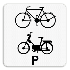 Verkeersbord SB250 M20 - Enkel voor fietsers en speed pedelecs