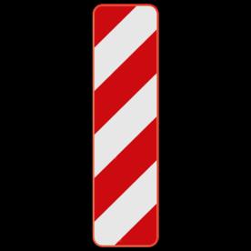 Verkeersbord SB250 Type Ia1 - Baken voor signalisatie op afstand, links