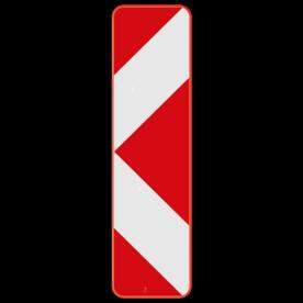 Verkeersbord SB250 Type Ia2 - Baken voor signalisatie op afstand, splitsing links