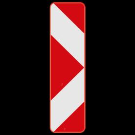 Verkeersbord SB250 Type Ib2 - Baken voor signalisatie op afstand, splitsing rechts