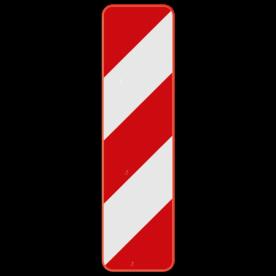 Verkeersbord SB250 Type IIa - Baken voor zijdelingse signalisatie, links