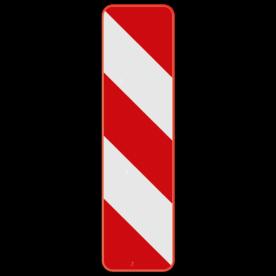 Verkeersbord SB250 Type IIb - Baken voor zijdelingse signalisatie, rechts