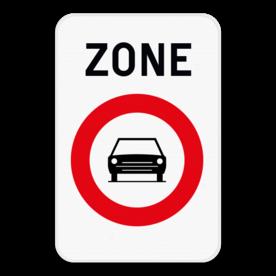 Verkeersbord SB250 ZC5 - Zone verboden toegang voor motorvoertuigen met meer dan 2 wielen