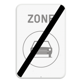 Verkeersbord SB250 ZC5/ - einde