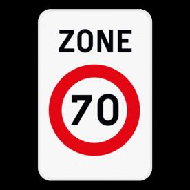 Verkeersbord SB250 ZC43 - Zone met een snelheidsbeperking
