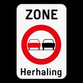 Verkeersbord SB250 ZC35T - Zone verboden inhalen