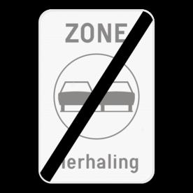 Verkeersbord SB250 ZC35T/ - Einde zone verboden inhalen