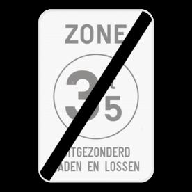 Verkeersbord SB250 ZC21T/ - Einde
