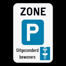 Verkeersbord SB250 ZE9a parkeerschijf - Zone parkeren beperkt in tijd, parkeerschijf verplicht