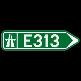Verkeersbord SB250 F31 - Wegwijzer autostrade Rechts