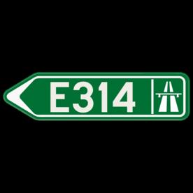 Verkeersbord SB250 F31 - Wegwijzer autostrade Links