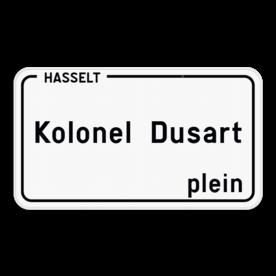 Straatnaambord België 4:2 + Stad/Gemeente