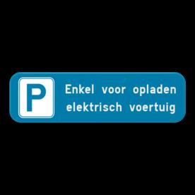Parkeerplaats bord - Parking elektrisch voertuig