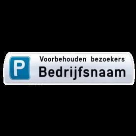 Parkeerbord voor biggenrug / betonrand 600x200mm