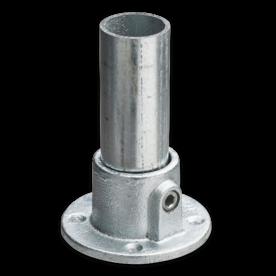 Voetplaat rond - Buiskoppeling verzinkt staal