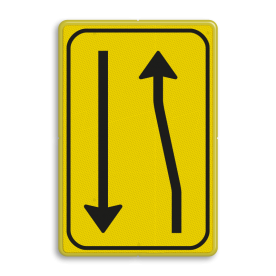 Verkeersbord T03-2l geel/zwart