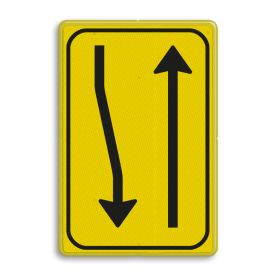 Verkeersbord T02-2r geel/zwart
