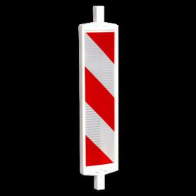 Geleidebaken BB35 type B rood wit (dubbelzijdig reflecterend klasse 2)