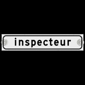 Autobord met zuignappen 500x100mm inspecteur reflecterend