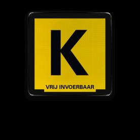 Informatiebord Kabelbord zwart/geel + tekst