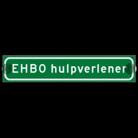Autobord met zuignappen 375x75mm EHBO hulpverlener reflecterend
