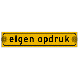 Autobord met zuignappen 375x75mm met eigen opdruk geel FLUOR
