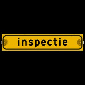 Autobord met zuignappen 375x75mm inspectie geel FLUOR