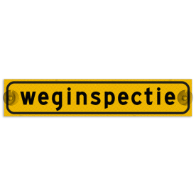 Autobord met zuignappen 375x75mm weginspectie geel FLUOR