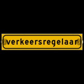 Autobord met zuignappen 375x75mm verkeersregelaar geel FLUOR