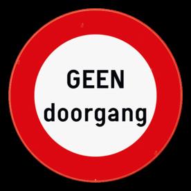 Verkeersbord C3 - GEEN doorgang