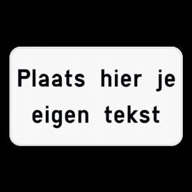 Tekstbord wit/zwart - 1 tot 4 tekstregels