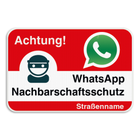 WhatsAppbord - Achtung! - Rood