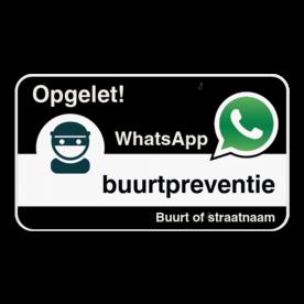WhatsApp onderbord met eigen tekst - Zwart