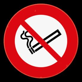 Verkeersbord rookverbod