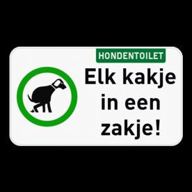 Informatiebord - Hondentoilet met eigen tekst
