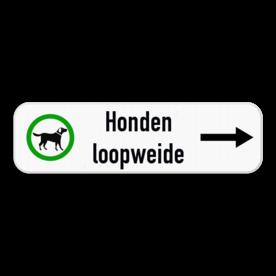 Routebord met pijl - hondenloopwijde