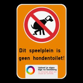 Informatiebord - Geen hondentoilet + Logo
