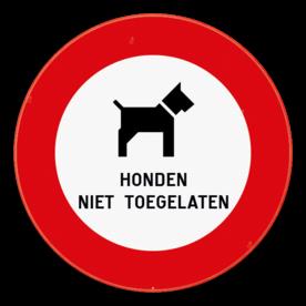 Verkeersbord - Honden niet toegelaten
