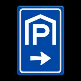 Verkeersbord RVV BW202 met aanpasbare pijlrichting